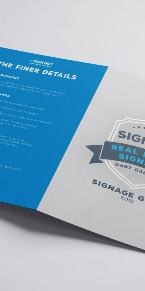 The Sign Guy Real Estate Brochure by BROKENIMAGE Creative